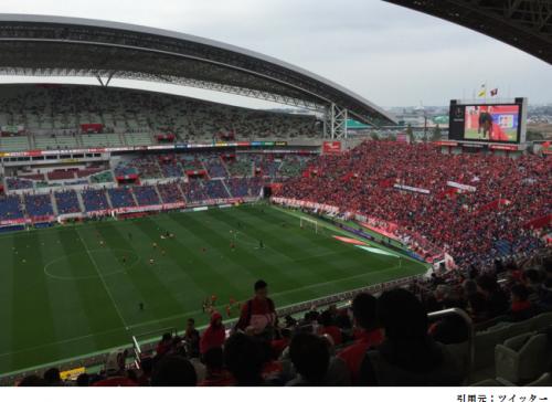 埼玉スタジアムスタンド2階見え方眺めサッカー