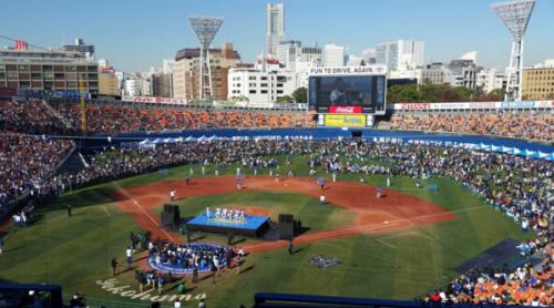 横浜スタジアムスタンド階座席見え方画像野球