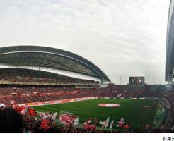 埼玉スタジアムスタンド1階後方眺めサッカー