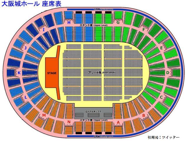 大阪 城 ホール 座席 スタンド f